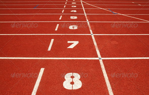 retro sport running track  - Stock Photo - Images