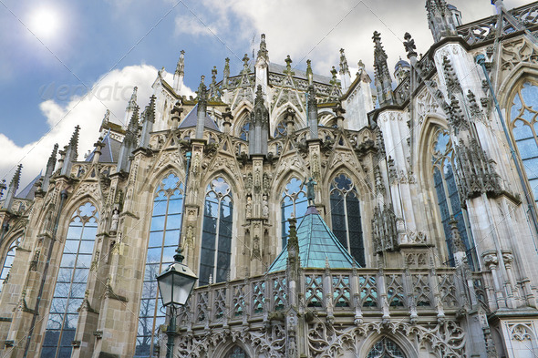 Cathedral in Den Bosch. Netherlands - Stock Photo - Images