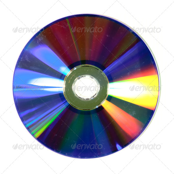 scratched CD - Stock Photo - Images