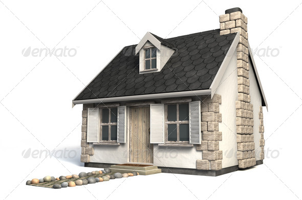 Quaint Little Cottage - Stock Photo - Images