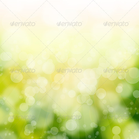 green bokeh abstract light background - Stock Photo - Images