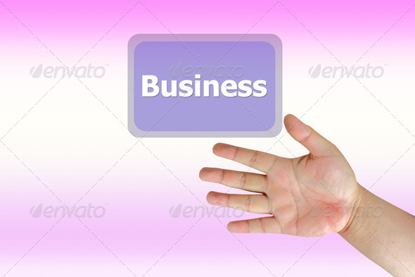 hand touch success box - Stock Photo - Images