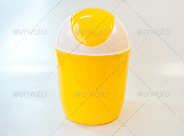 Yellow bin - Stock Photo - Images