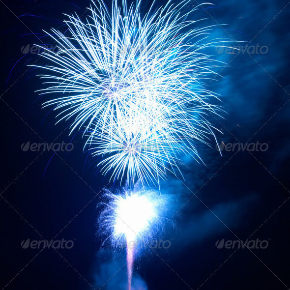Fireworks, salute - Stock Photo - Images