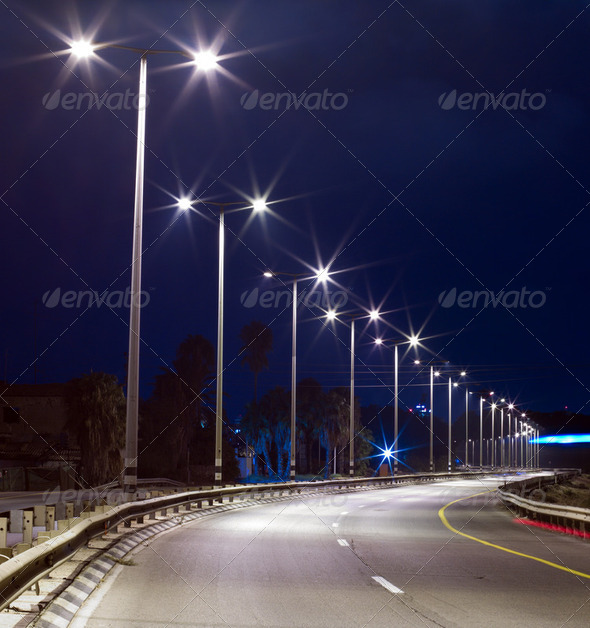 Empty highway - Stock Photo - Images