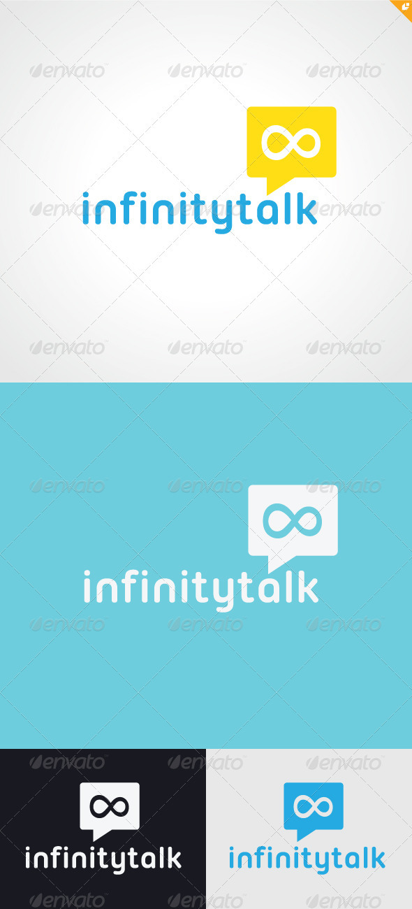 GraphicRiver Infinity Talk Logo 3347784