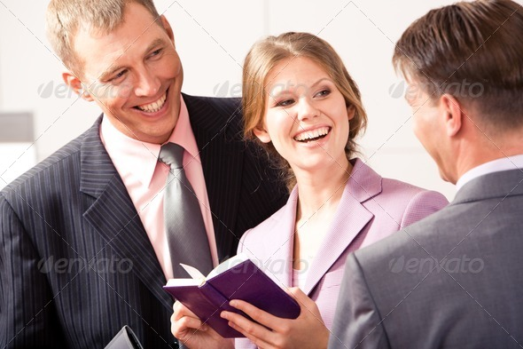 Friendly talk - Stock Photo - Images
