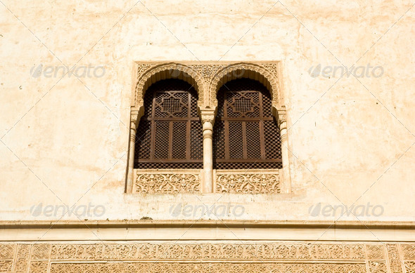 Window in Alhambra - Stock Photo - Images