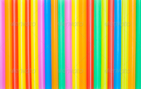 Colorful drinking straws background. - Stock Photo - Images