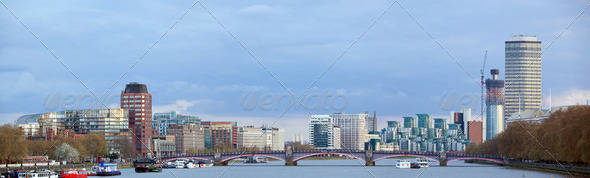 London Skyline Panorama - Stock Photo - Images