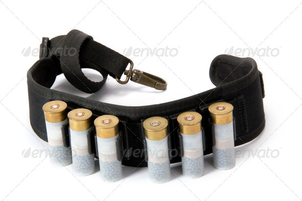 Hunting cartridges (isolated) - Stock Photo - Images