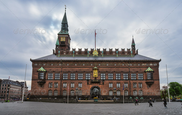 Copenhagen city Hall - Stock Photo - Images