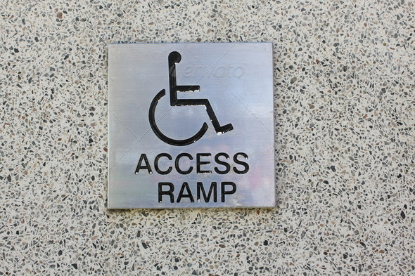 Access Ramp sign - Stock Photo - Images