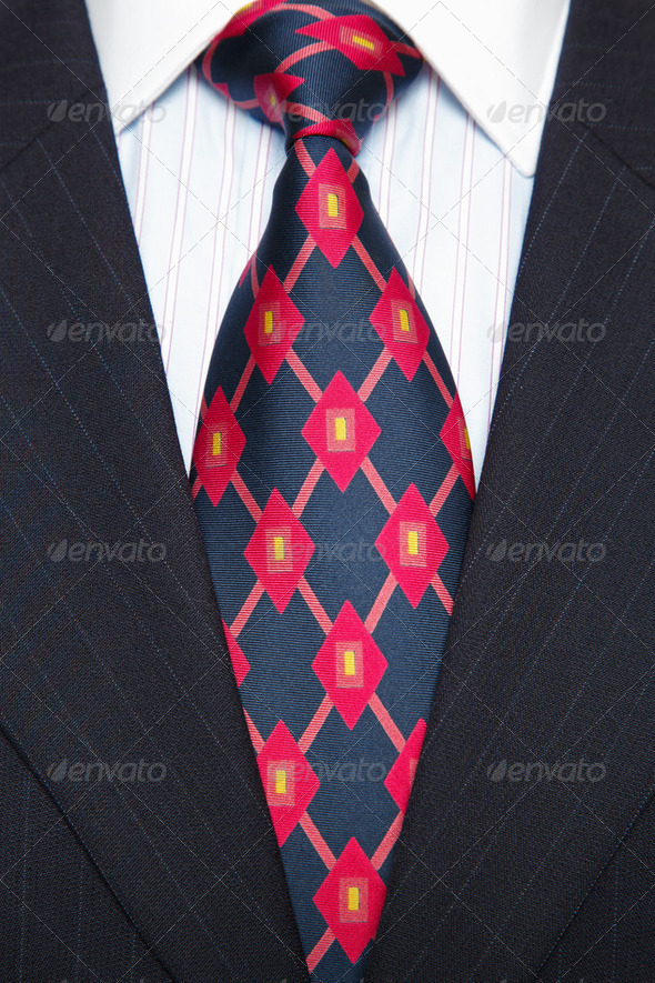 Blue Pinstripe suit and tie - Stock Photo - Images