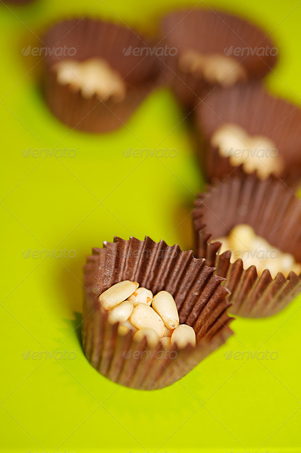 Shelled pine nuts - Stock Photo - Images