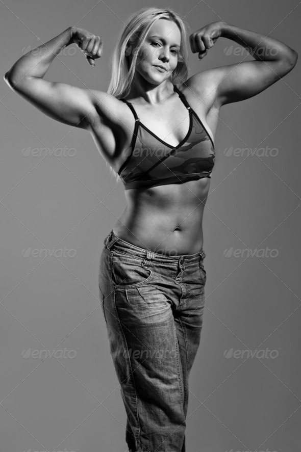 fitness blonde - Stock Photo - Images