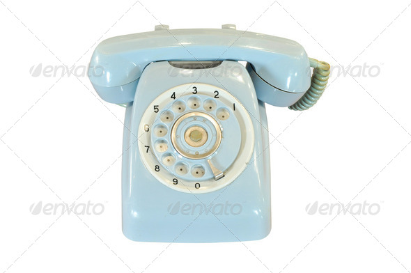 vintage telephone isolated - Stock Photo - Images