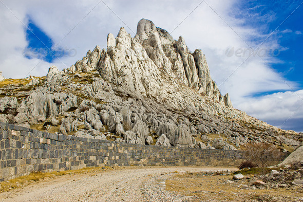 Tulove grede rocks on Velebit mountain - Stock Photo - Images
