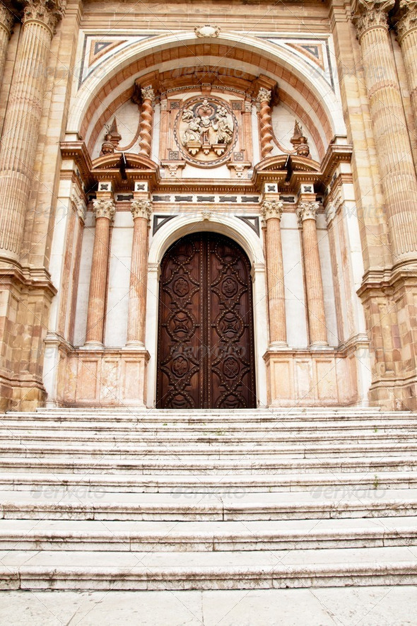 Malaga Cathedral, Andalucia, Spain - Stock Photo - Images