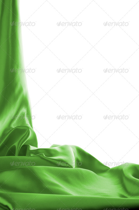 Green Cloth Background - Stock Photo - Images