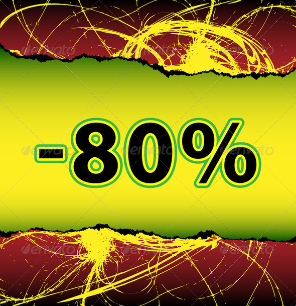 Discount eighty percent off - Stock Photo - Images