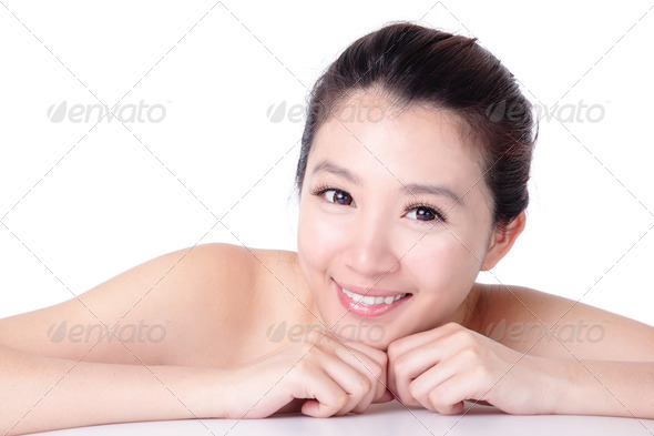 asian Beauty smile face close up - Stock Photo - Images