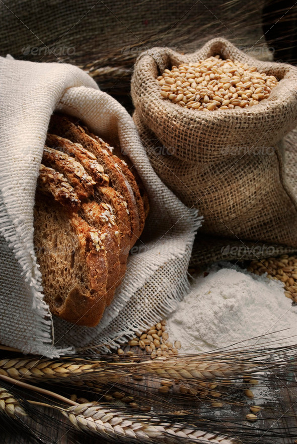 Bread and wheat - Stock Photo - Images
