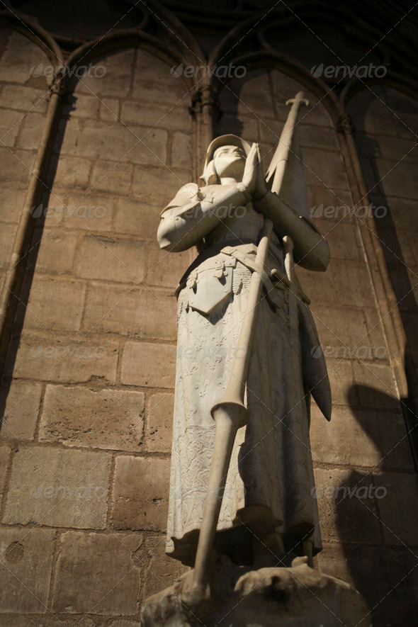 Joan of Arc in the Notre Dme - Stock Photo - Images