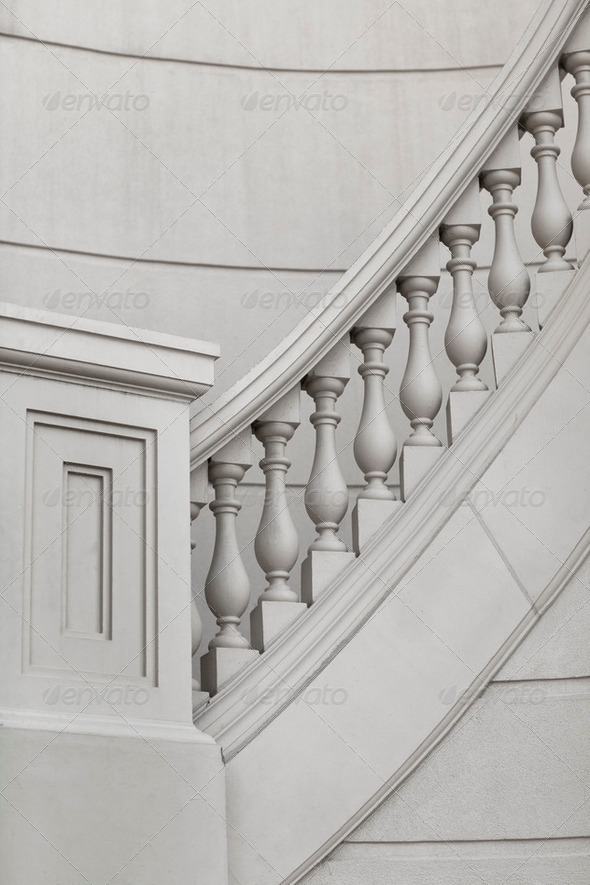 Marble staircase - Stock Photo - Images