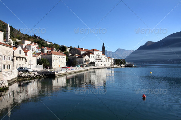 Perast village near Kotor, Montenegro - Stock Photo - Images
