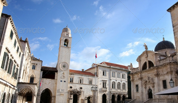 Dubrovnik, Plaza Stradun, Croatia - Stock Photo - Images