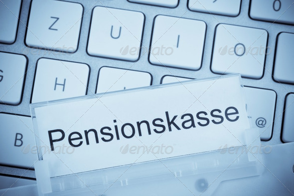 briefcase on the subject: pension fund - Stock Photo - Images