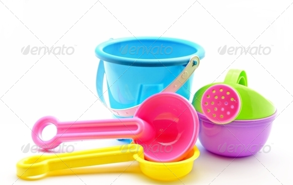 Toy bucket - Stock Photo - Images