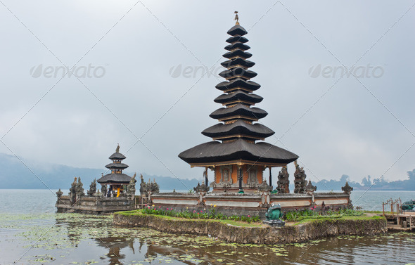 Ulun Danu Bratan temple in Bali, Indonesia - Stock Photo - Images