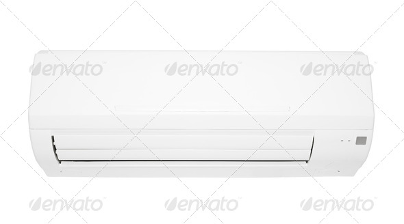 Air Conditioner isolated on white background - Stock Photo - Images