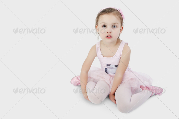 Sweet little ballet dancer - Stock Photo - Images