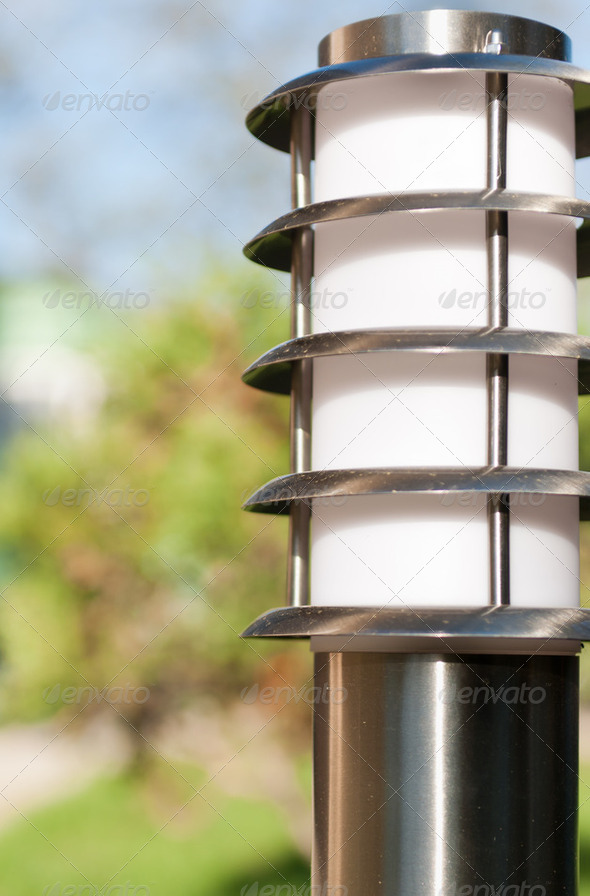 lantern in the garden - Stock Photo - Images