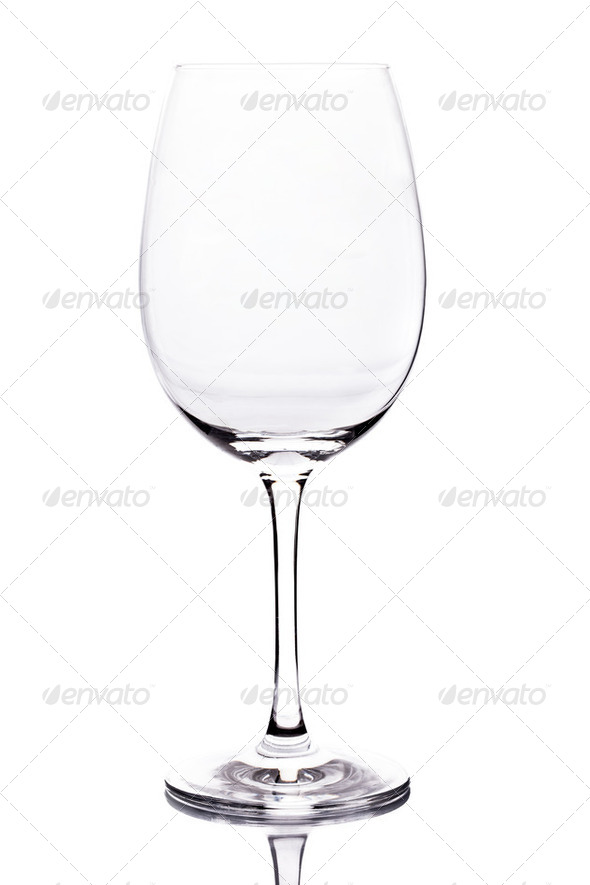 Empty Wine Glass - Stock Photo - Images