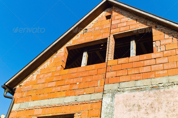 conversion and extension of a dwelling - Stock Photo - Images