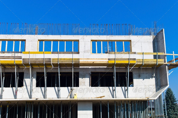 construction of a dwelling - Stock Photo - Images