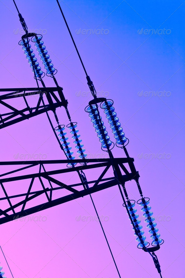 electricity pylon - Stock Photo - Images