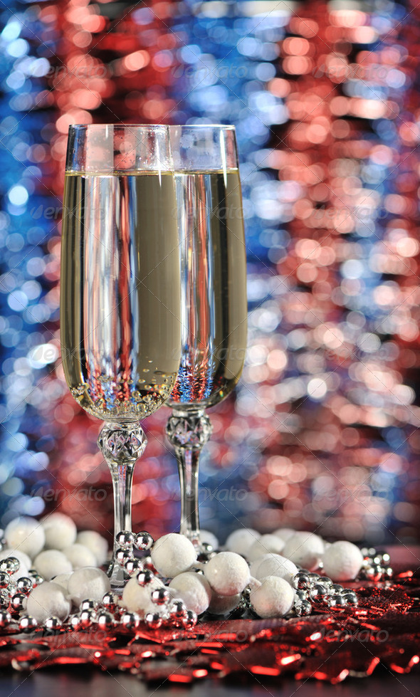 Glasses of a champagne - Stock Photo - Images