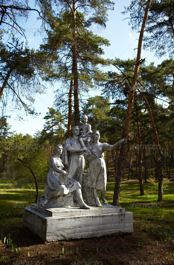 Soviet monument - Stock Photo - Images