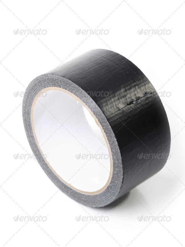 Black adhesive tape - Stock Photo - Images
