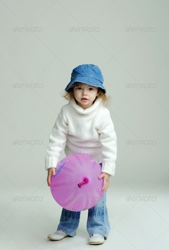 Girl with balloon - Stock Photo - Images