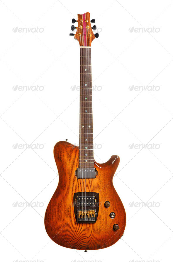 Beautiful electric guitar - Stock Photo - Images