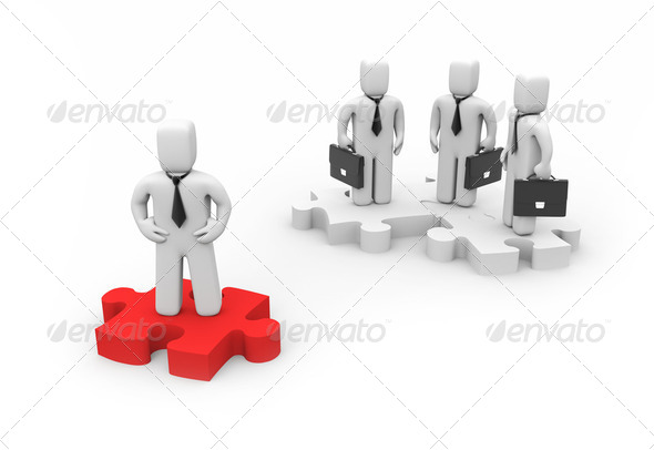 The Leader. Business concept - Stock Photo - Images