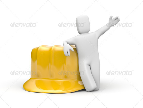 Person and helmet - Stock Photo - Images