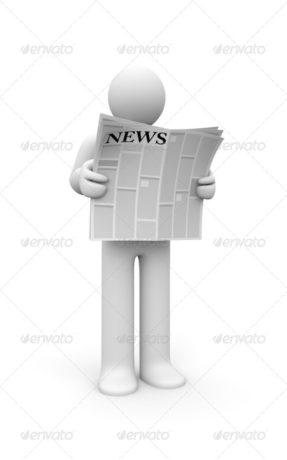 Person read newspaper - Stock Photo - Images