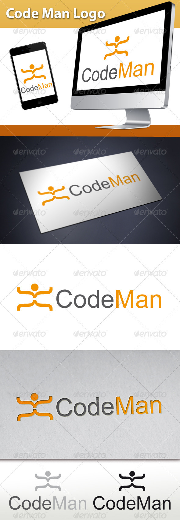 GraphicRiver Code Man Logo 3334281